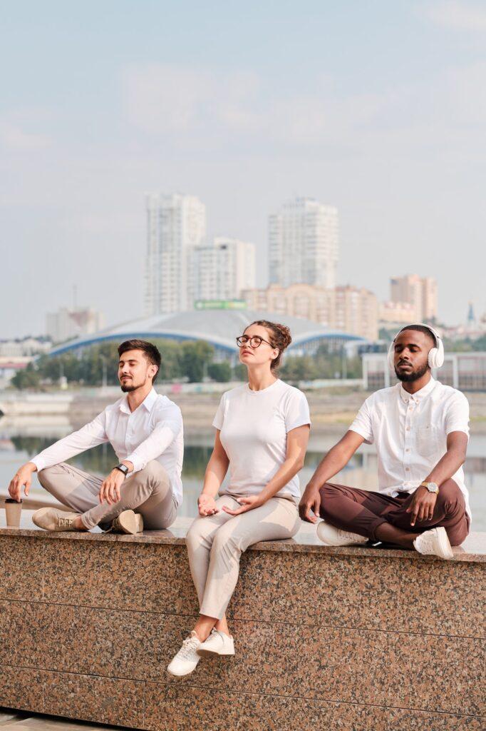 Focused on mind during meditation